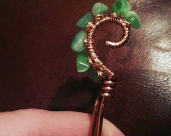 Wire wrapped hair pin