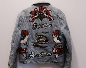 Vintage Levi's Custom Snake Shearling Jacket