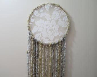 Hippie Dream Catcher - Gold & Silver w/Feathers