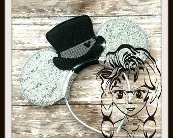 BRiDE VeiL GRooM ToP HaT WeDDING (4 Piece) Mr Miss Mouse Ears Headband ~ In the Hoop ~ Downloadable DiGiTaL Machine Emb Design by Carrie