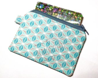 Origami padded women wallet credit card case, padded coin purse, id13409235, portemonnaie, moneybag, small zipper pouch, id work lanyard