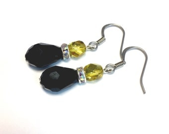 Black & Yellow Earrings