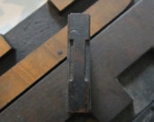 Letter I Antique Letterpress Wood Type Printers Block