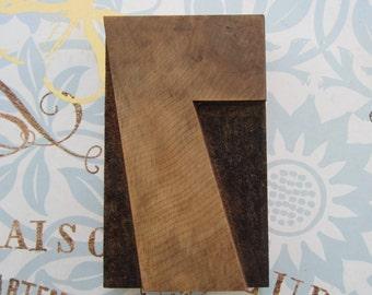 Number 7 Antique Letterpress Wood Type Printers Block Seven