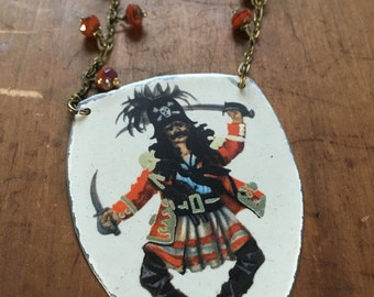 Dancing pirate necklace