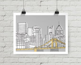 Pittsburgh Skyline - Giclee Print