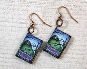 Wuthering Heights Earrings, Mini Book Dangle Earrings, Lightweight