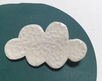 Sweet white cloud pin