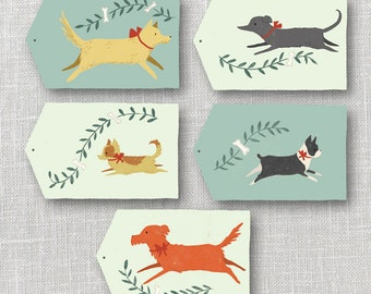 Dogs Gift Tags Printable Instant Download PDF