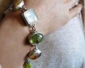 1/2 DEPOSIT for VALERIA Artisan Gemstone Bracelet, Earth Tone Moonstone Prehnite Fossil Coral Cross Agate Jerusalem Stone Bracelet
