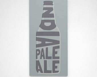 Beer Gift- Boyfriend Gift- IPA Beer Sign- India Pale Ale- Bar Decor