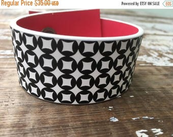 40% OFF- Custom Leather Cuff-Create Your Own-Geo Faux Leather-Word Cuff