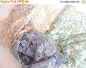 CLEARANCE - Lace fabric pieces, sparkly fabric, stretch lace , crazyquilting, patchwork,applique, sewing