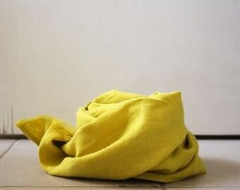 LINEN SCARF for CHILDREN / citron / handmade in australia / pamelatang