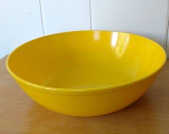 vintage yellow melmac serving bowl Texas Ware