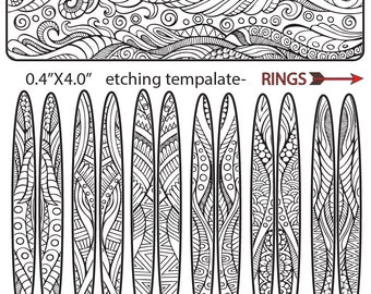Making etched jewelry,Etching Abstract, ethnic Cuff Bracelet, Hoop Earrings, Rings Download -DT-SS-2929