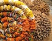 SPECIAL ORDER Reserved  for Karen  COASTER set   of  four Autumn blend