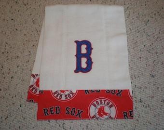 Boston Red Sox Baby Burp Cloth