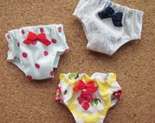 3 panties for Blythe, Lati Yellow, Ming, Meng and Mong  SET C