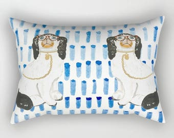 BESPECTACLED ON BLUE Rectangular Pillow - 3 Sizes