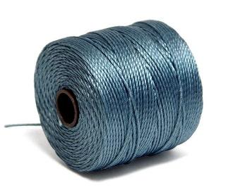 S-Lon Bead Cord - Superlon Bead Cord - Knotting Cord - Macrame Cord -  77 Yard Spool - TEX210 - Ice Blue (B252)