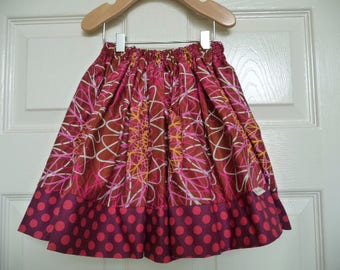 Sample SALE - Will fit Size 3T to 5T - Ready to MAIL - SKIRT -  Abstract Berry - by Boutique Mia
