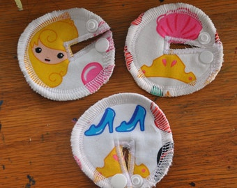 Tubie Button Cushions - Snow White. Set of THREE.