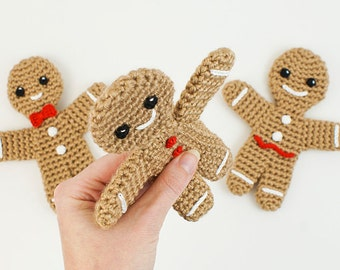 PDF Gingerbread Man amigurumi CROCHET PATTERN