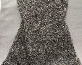Handcranked Angora Wool Texting Mitts