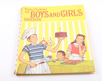 Betty Crocker's, Boys and Girls, Cookbook, Vintage, Children's, Book, Recipes  ~ The Pink Room ~ 161026C