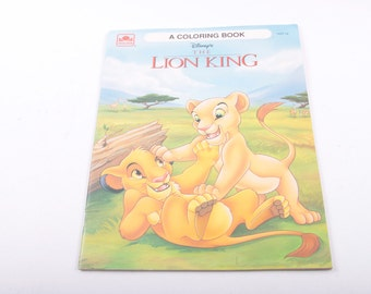 The Lion King, Disney, Vintage, Coloring Book, Unused, Blank ~ The Pink Room ~ 161123B