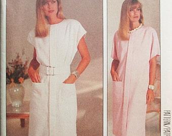 1980s Vintage Sewing Pattern McCalls 2911 Misses Dress Pattern Size 12, 14, 16 Uncut
