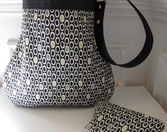 Handbag / Shoulder Bag with Matching Coin Pouch in a Mini Dot Design