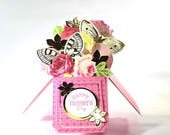 Pop Up Cards - Mothers Day - Mothers Day Card - Box Card - Card for Mom - Happy Mothers Day - Floral Card - Fancy Card - Flowers Card