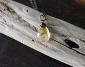 joy and abundance {citrine intention necklace}