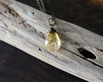joy and abundance {citrine intention necklace}