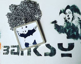 Banksy 'Panda with Guns' Necklace