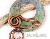 Handmade Rustic Copper Toggle Clasp TC602