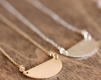 half circle necklace - available in sterling silver or gold filled