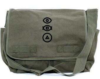 Messenger Bag   BAUHAUS   Gift for Men   Camera Bag   Crossbody   Travel   Hipster   Diaper   Shapes   Mens Messenger   Gift for Boyfriend