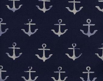 Cotton + Steel S.S. Bluebird - anchor canvas - navy - 50cm