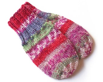 Thumbless Cordless Baby Mittens. Hand Knit Baby Mitts Without Thumbs. Infant Hand Warmers. No Thumb Mittens Without String. Baby Boy Mittens