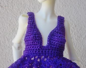 Handmade OOAK Purple Rain Halter Top for Doll Chateau Kid dolly