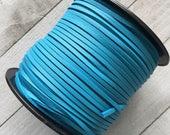 Suede Lace Faux Leather Jewelry Cord PU Leather (C66) Turquoise Blue 15 feet 5 Yards for Crafts Jewelry Bracelets Necklace
