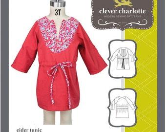 Clever Charlotte PATTERN - Elder Tunic - Sizes 2T-8