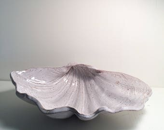 Pottery Clam Shell Dish - Stoneware - Handbuilt - Ocean - Seaside Inspired