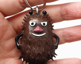 Keyring keyfob bag charm with dark brown Moomin Stinky