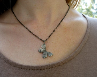 Silver Butterfly Necklace Personalized Token Nature Pendant Rustic Insect Jewelry