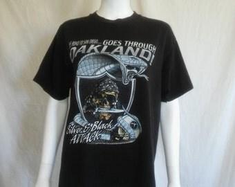 RAIDERS football vintage shirt tshirt tee  t shirt 90s vintage