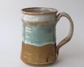 Stoneware Coffee Mug - Chocolate Mint Variation Glaze